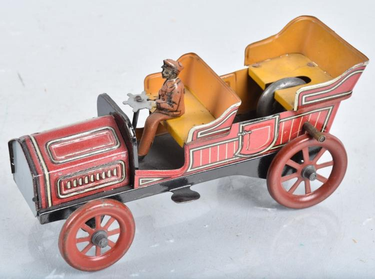 CARETTE Tin Flywheel OPEN CAR w/ DRIVER
