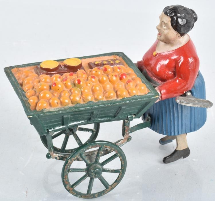 FRENCH Windup FRUIT VENDOR LADY