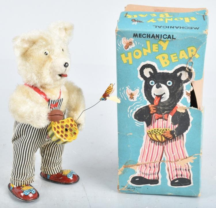 JAPAN Windup HONEY BEAR w/ BOX