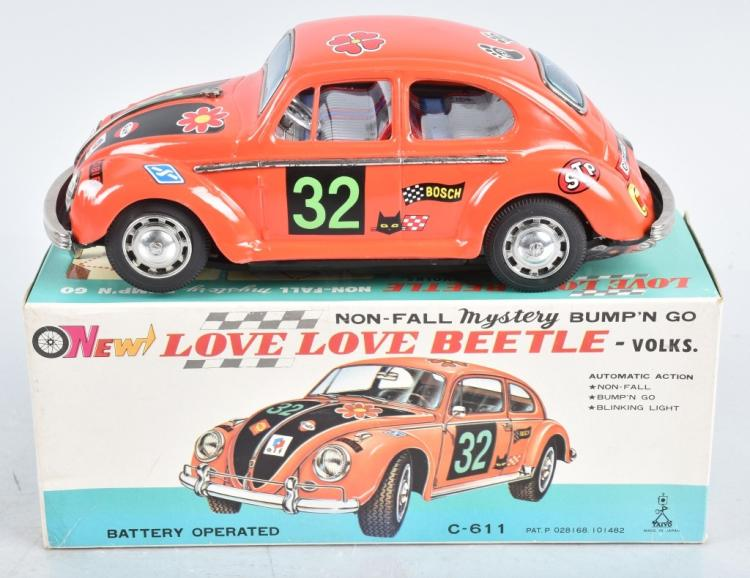JAPAN Battery Op VW LOVE BEETLE w/ BOX
