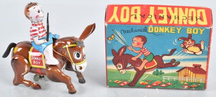JAPAN Tin Windup DONKEY BOY w/ BOX