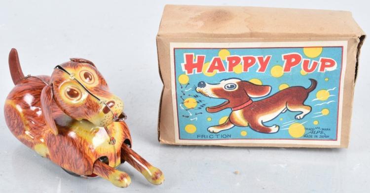 JAPAN Tin Friction HAPPY PUP w/ BOX