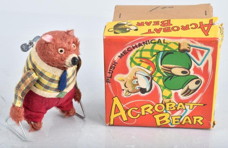 JAPAN Windup ACROBAT BEAR w/ BOX
