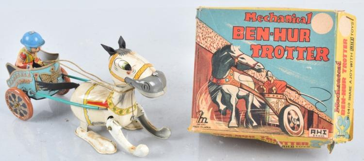 JAPAN Tin Windup BEN HUR TROTTER w/ BOX