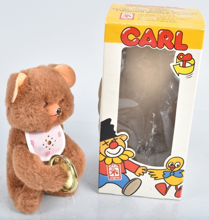 W GERMAN Windup CARL THE BEAR w/ BOX