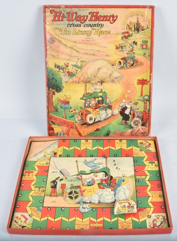 HIWAY HENRY TIN LIZZY RACE GAME w/ BOX