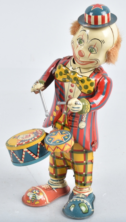 JAPAN Tin Windup CLOWN DRUMMER