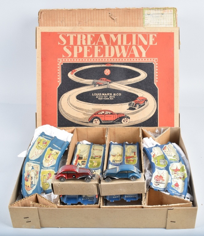MARX STREAMLINE SPEEDWAY Mint In Box