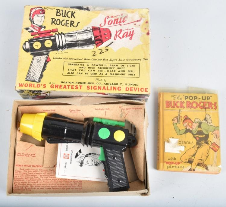 BUCK ROGERS SONIC RAY GUN & BOOK