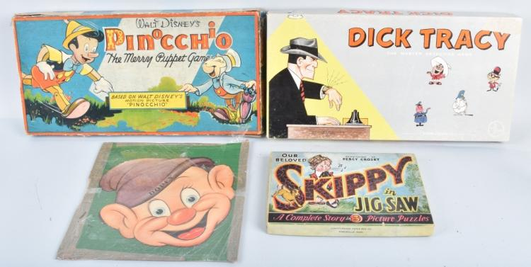 SKIPPY, PINOCCHIO, DICK TRACY, & MORE GAMES
