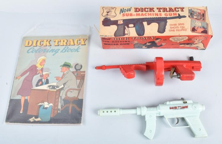2- DICK TRACY GUNS & COLORING BOOK