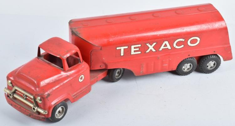 BUDDY L Pressed Steel TEXACO TANKER TRUCK