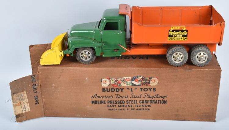 BUDDY L HYDRAULIC SCOOP & LOAD DUMP TRUCK w/BOX