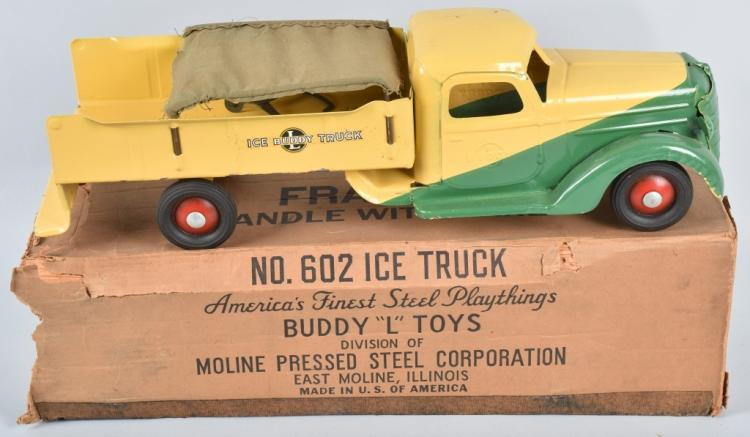 BUDDY L INTERNATIONAL ICE TRUCK w/ BOX
