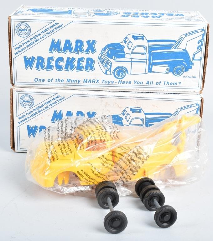 2- MARX Reissue WRECKERS w/ BOX