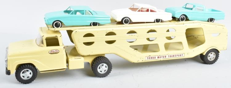 TONKA MOTOR TRANSPORT w/ 3 FALCON CARS