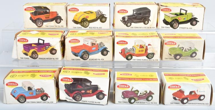 12- TONKA TINY-TONKA VEHICLES w/BOXES