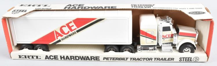 ERTL ACE HARDWARE PETERBILT TRACTOR TRAILER MIB