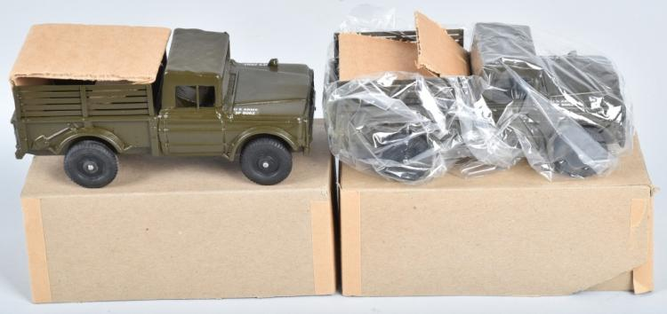 2- REPLICA M-9363B ARMY JEEP TRUCKS MIB