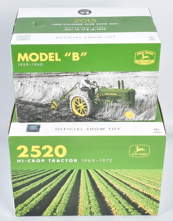 ERTL JOHN DEERE MODEL B & 2520 HI-CROP TRACTORS