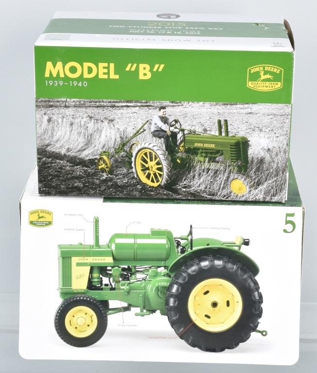 ERTL JOHN DEERE MODEL B & MODEL 5 620LP TRACTOR