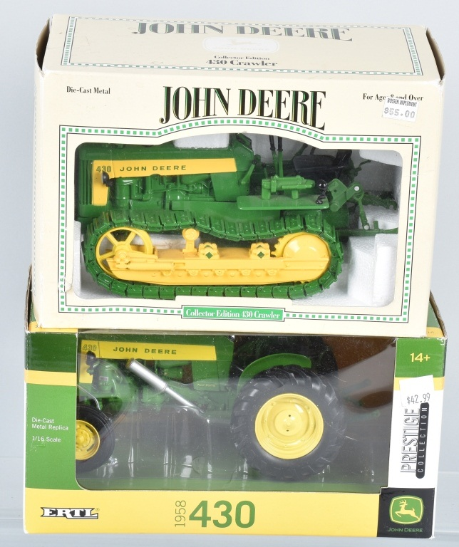 ERTL JOHN DEERE 430 TRACTOR & 430 CRAWLER MIB