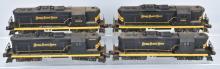 4-LIONEL NICKEL PLATE  ENGINES, 320, 324, 325