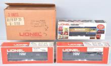 3-LIONEL ENGINES, NW 6-8763, MONON 8155