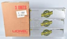 3-LIONEL CHICAGO NORTH WESTERN ENGINES, BOXED