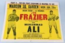 1974 FRAZIER & ALI FIGHT BOXING POSTER