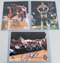 NBA BASKETBALL SIGNED PHOTO LOT