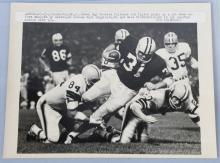ORIGINAL WIRE PHOTO FOOTBALL PACKERS & BROWNS