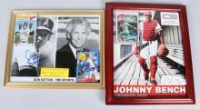 JOHNNY BENCH & DON SUTTON AUTOGRAPHED PICTURES