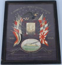 U.S. NAVY SILK & EMBROIDERED CRUISE MEMORIAL 1921