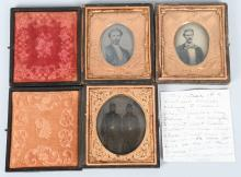 CIVIL WAR 1/6TH TINTYPE ARMED SOLDIERS LOT