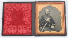 1850S PRE CIVIL WAR MILITIA 1/6TH ARMED AMBROTYPE