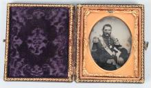 19TH CENTURY 1/9TH PLATE MILITARY TINTYPE