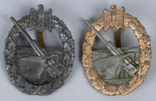 WWII NAZI GERMAN KRIEGSMARINE COASTAL ART. BADGES