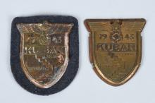 WWII LUFTWAFFE 1943 KUBAN COMBAT SLEEVE SHIELD LOT