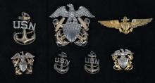 WWII UNITED STATES NAVY WINGS & INSIGNIA LOT