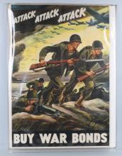 WWII U.S. POSTER WAR BONDS BY FERDINAND WARD 1942