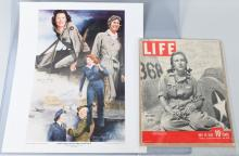 WWII US WASP AUTOGRAPHS 1943 LIFE MAGAZINE &POSTER