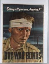 WWII U.S. 1942 BUY WAR BONDS POSTER