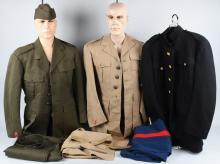 WWII USMC DRESS UNIFORMS & TRENCH ART RIDING CROP
