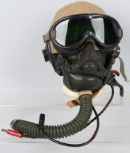 WWII US AN-H-15 FLIGHT HELMET GOGGLES OXYGEN MASK