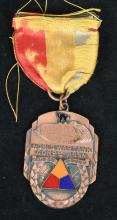 WWI TANK CORPS ASSOCIATION MEDAL W/ BLACK CAT