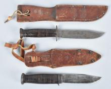 2-WW2 COMBAT KNIVES and SHEATHS