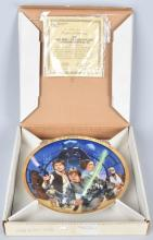 10th ANNIV. STAR WARS PLATE Signed by MARK HAMILL