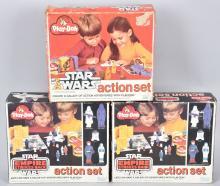 3- STAR WARS PLAY DOH ACTION SETS MIB
