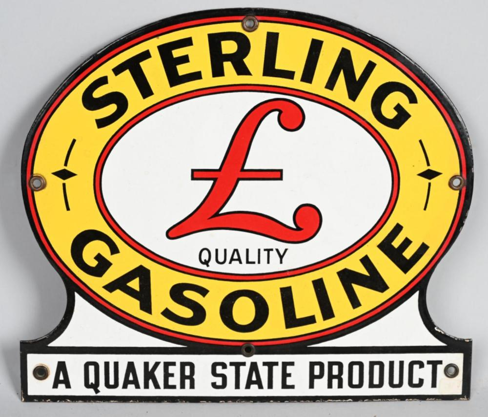 "Sterling Gasoline ""A Quaker State Product"" Porce"